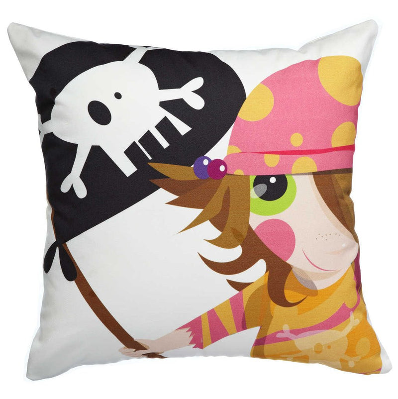 AniZet Designs Pirate Girl Throw Pillow Pillows | kids at home