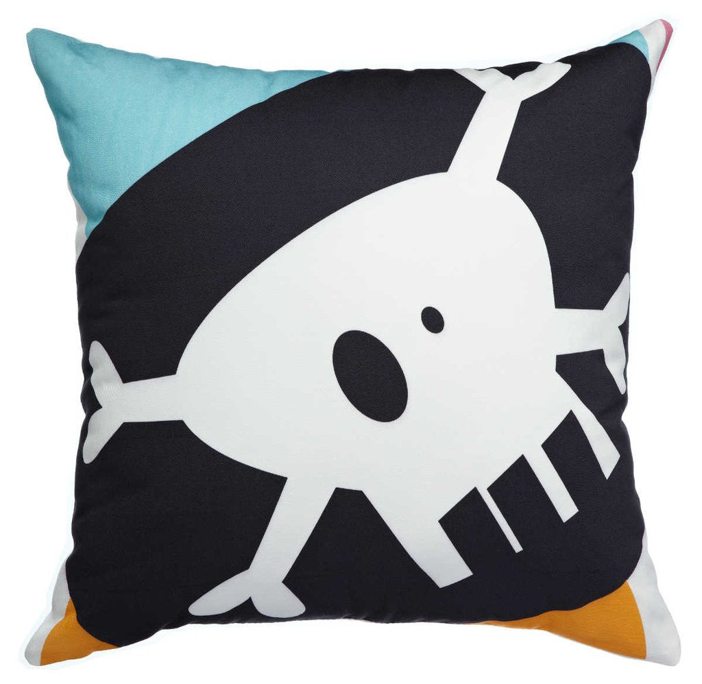 AniZet Designs Pirate Flag Throw Pillow Pillows | kids at home