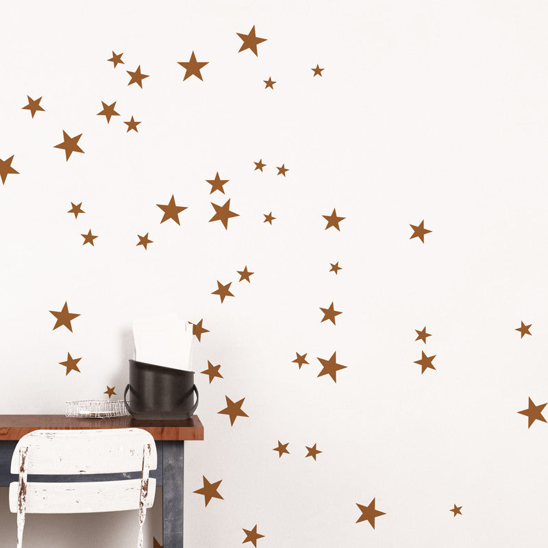 ADzif Copper Star Wall Decal | kids at home