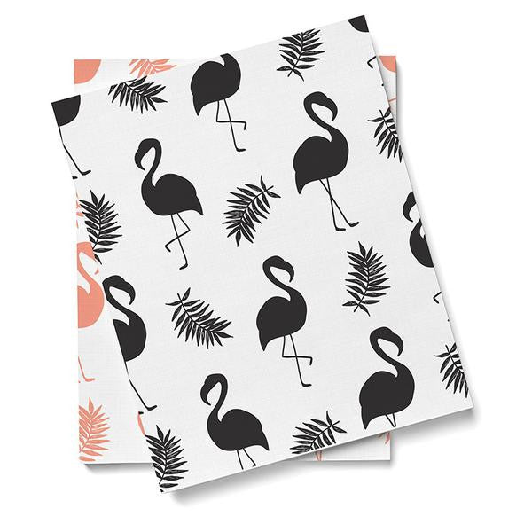 Wallpaper - Flamingo - Black