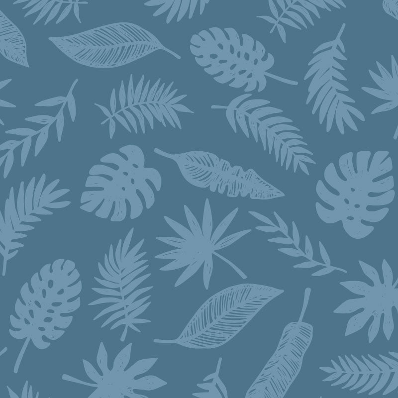 ADzif Wallpaper - Leaf - Navy Wall Decal | kids at home