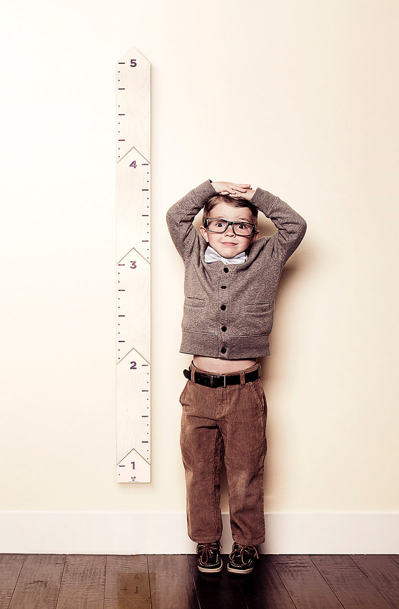 Moon and Sparrow Wood height Chart | kids at home