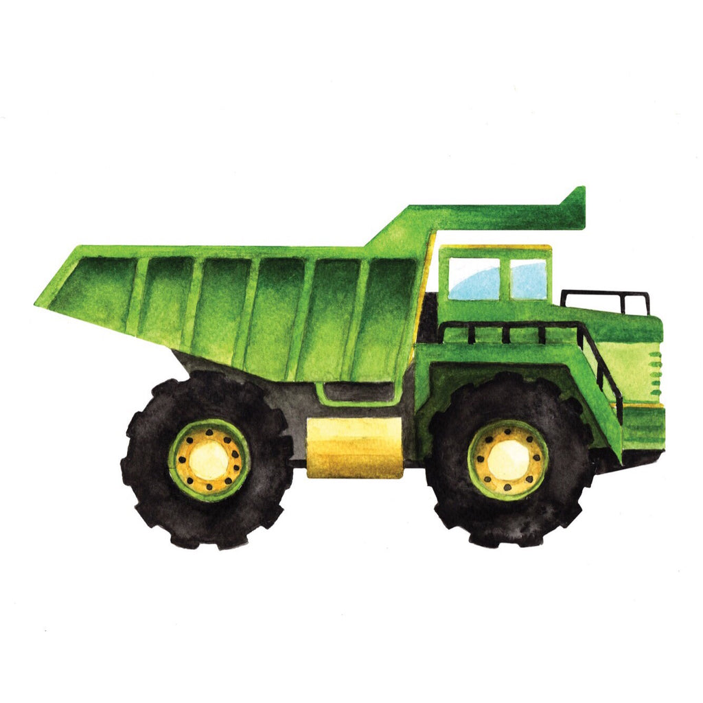 Wild Canary Studio | Dump Truck Watercolour Art Print