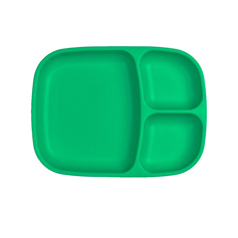 Re-Play Recycled Plastic Divided Tray - Kelly Green Plate | kids at home