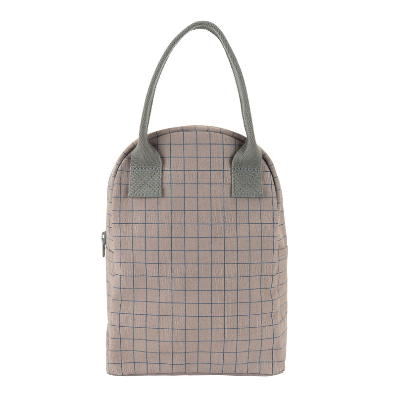 Fluf Zipper Lunch Bag - Grid | kids at home