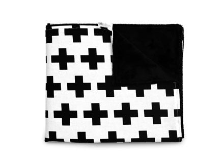 Olli+Lime Cross Blanket Large Blankets | kids at home