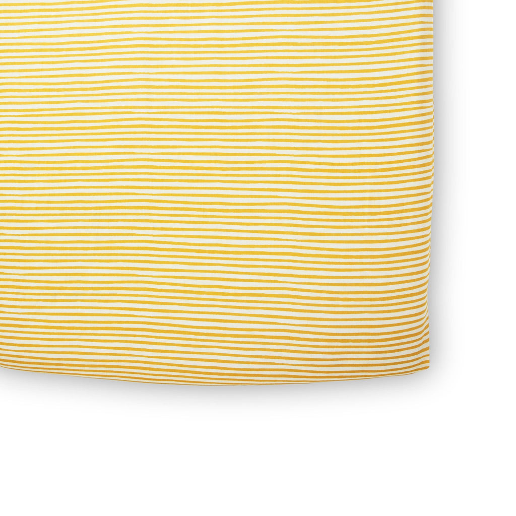 Pehr | Stripes Away Crib Sheet - Marigold