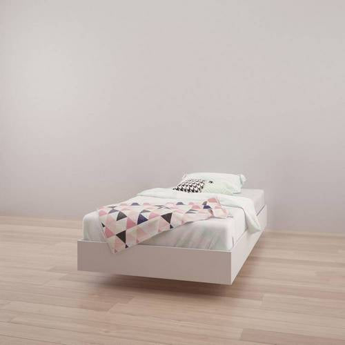 Twin Size Bed - White