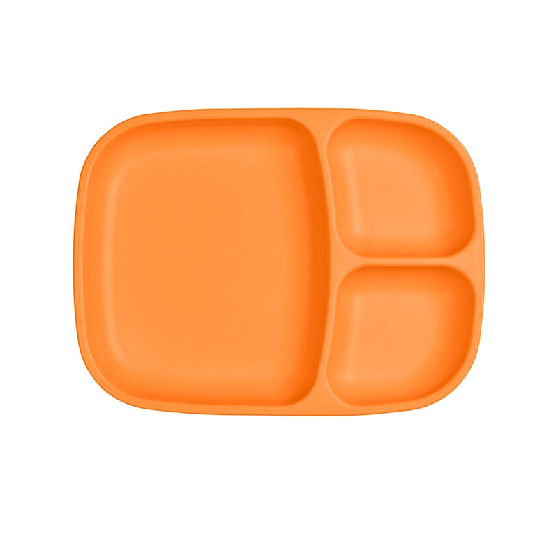 Re-Play Recycled Plastic Divided Tray - Orange Plate | kids at home
