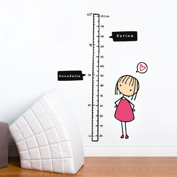 ADzif Watch me Grow! (Girl) Wall Decal | kids at home