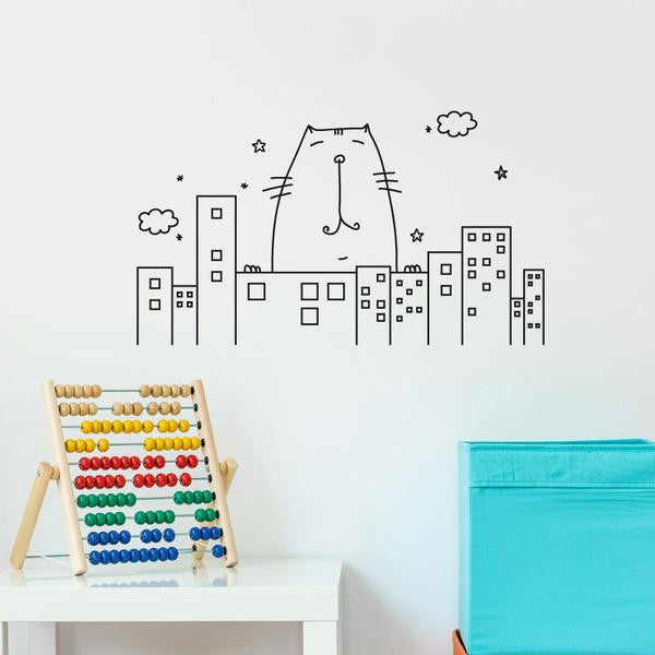 ADzif Big Cat Wall Decal | kids at home