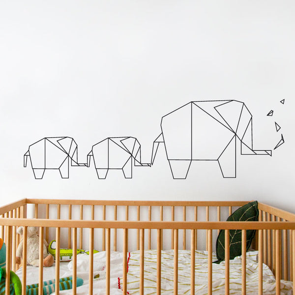 Elephant Origami - Wall Decal