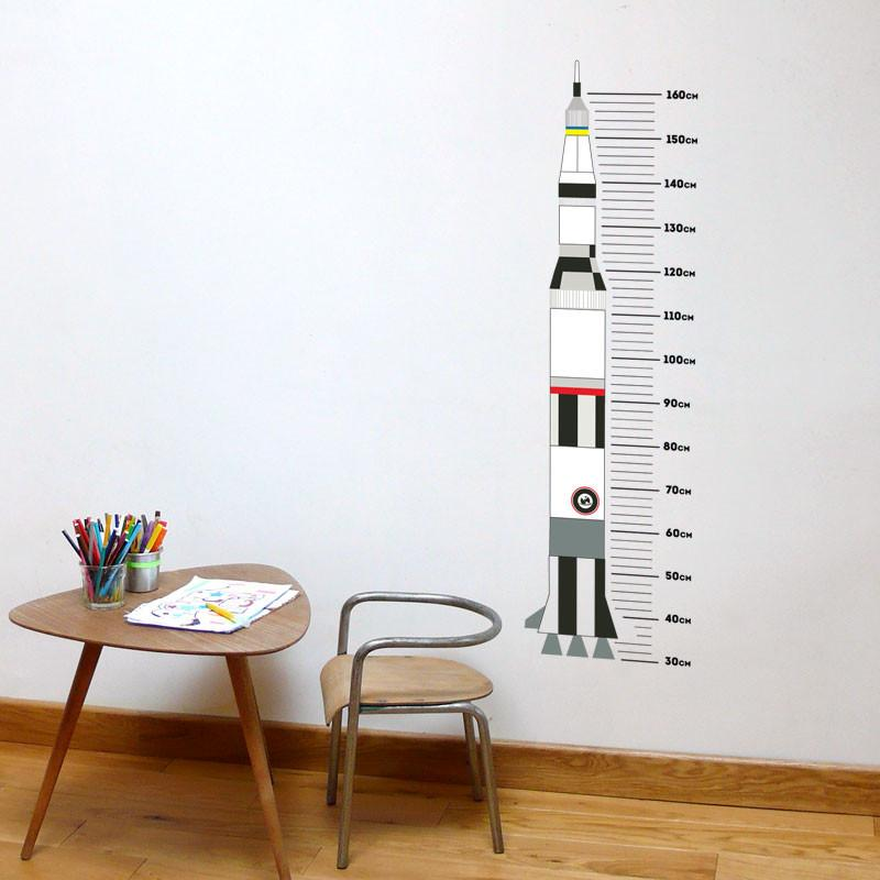 ADzif Rocket Height Gauge Wall Decal | kids at home