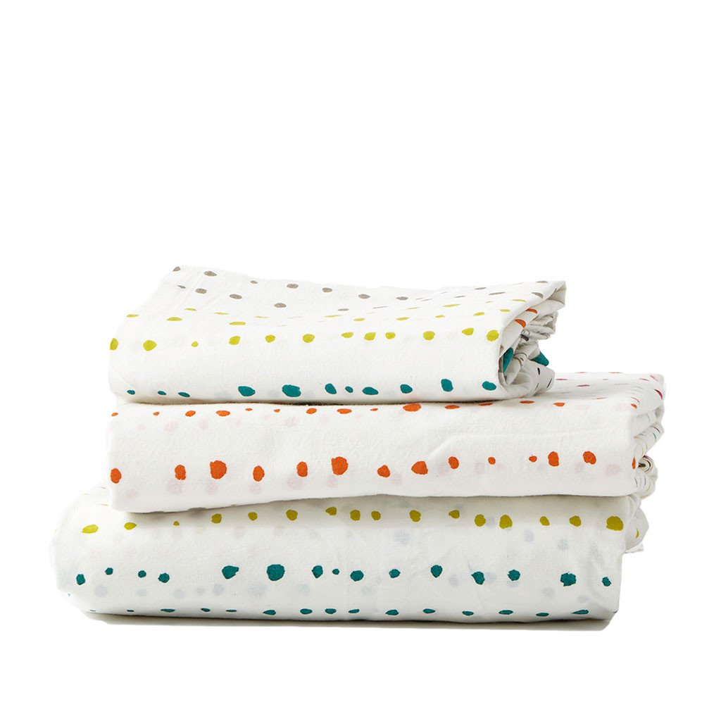 Pehr Painted Dots Sheet Set - Twin Bedding | kids at home