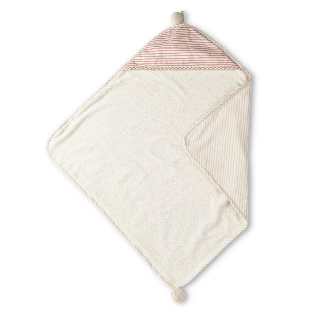 Pehr | Stripes Away Hooded Towel - Petal