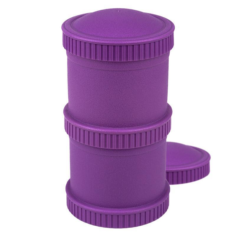 Re-Play Recycled Plastic Snack Stack - Amethyst Food Storage | kids at home