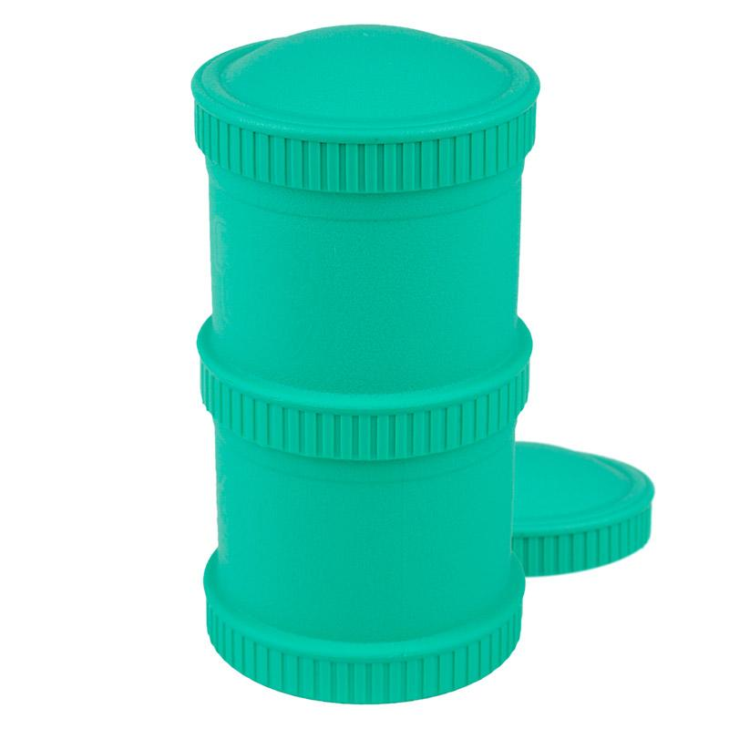 Re-Play Recycled Plastic Snack Stack - Aqua Food Storage | kids at home