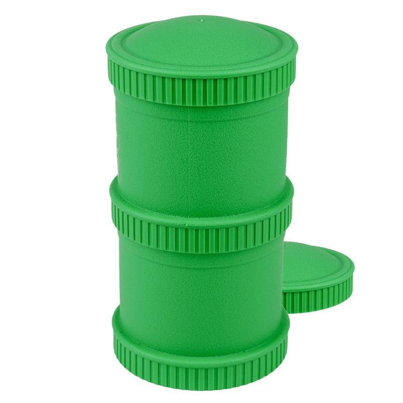 Re-Play Recycled Plastic Snack Stack - Kelly Green Food Storage | kids at home