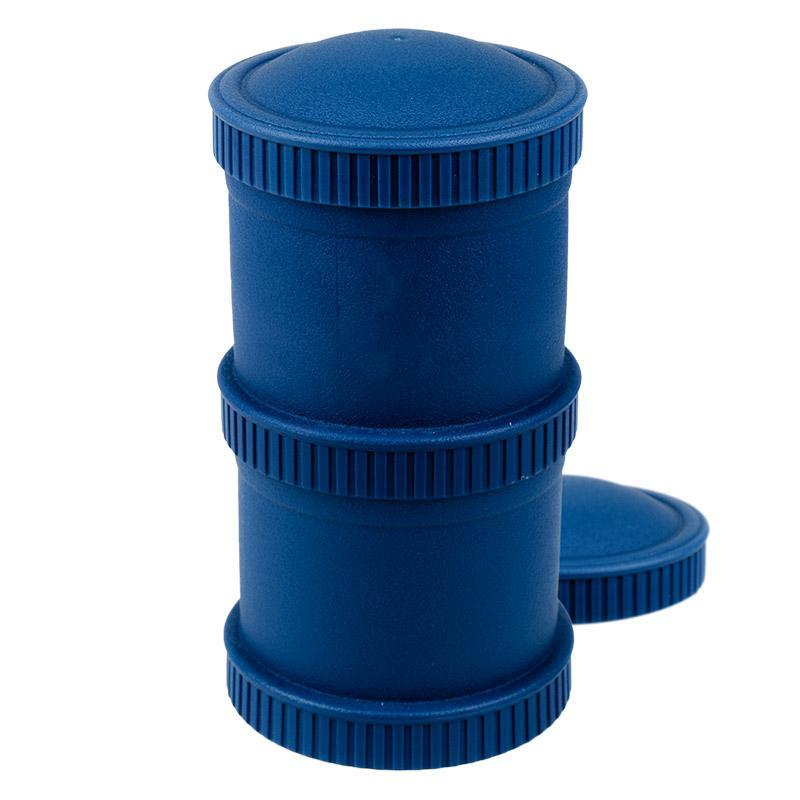 Re-Play Recycled Plastic Snack Stack - Navy Blue Food Storage | kids at home