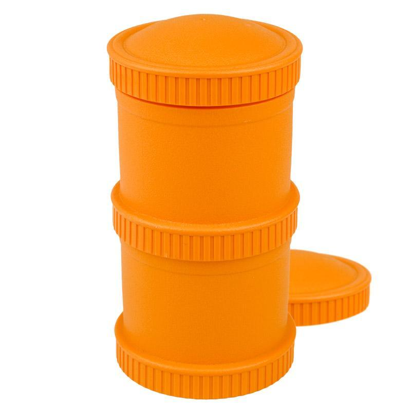 Re-Play Recycled Plastic Snack Stack - Orange Food Storage | kids at home