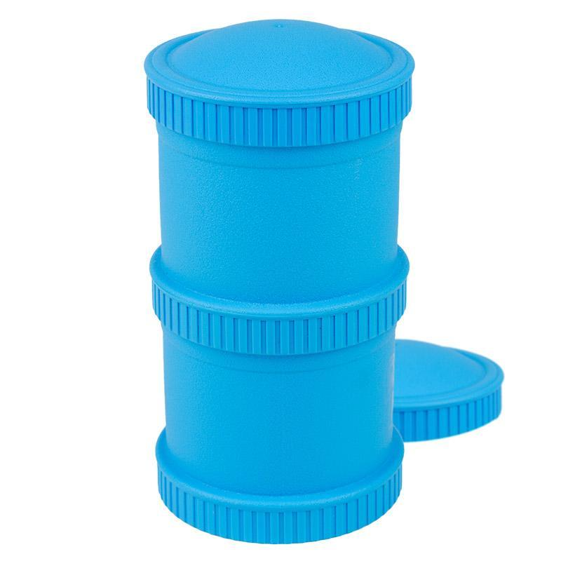 Re-Play Recycled Plastic Snack Stack - Sky Blue Food Storage | kids at home