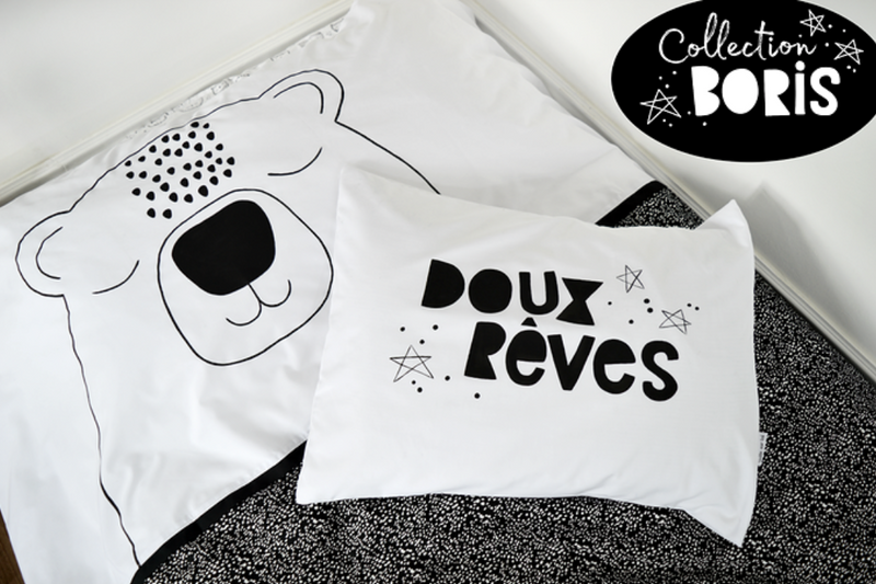 Veille Sur Toi Pillow Case- Doux Reves Pillows | kids at home