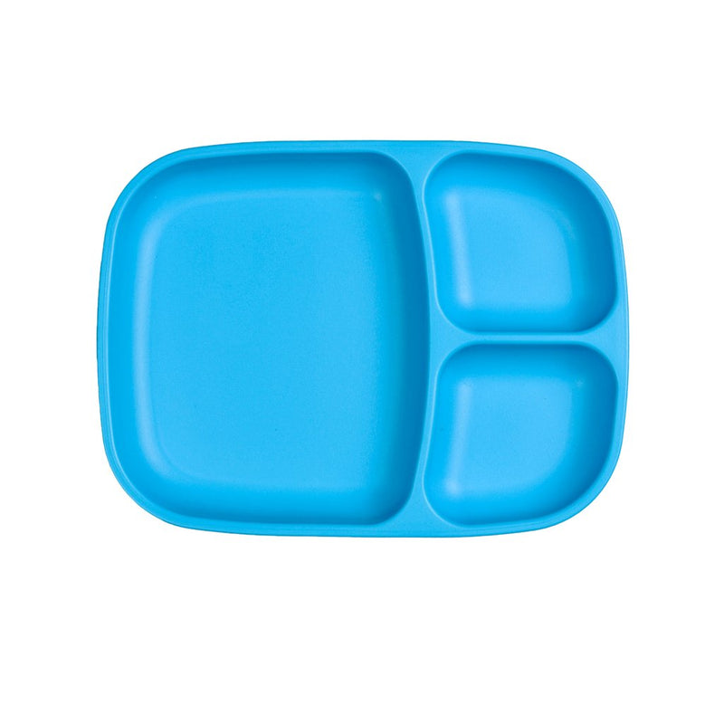 Re-Play Recycled Plastic Divided Tray - Sky Blue Plate | kids at home