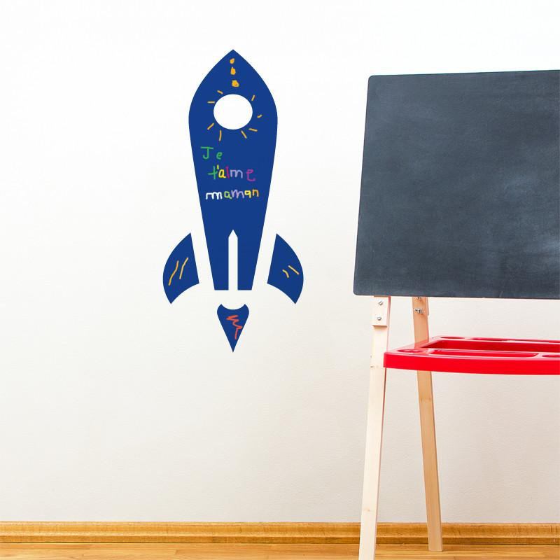 ADzif Rocket Chalkboard Wall Decal | kids at home