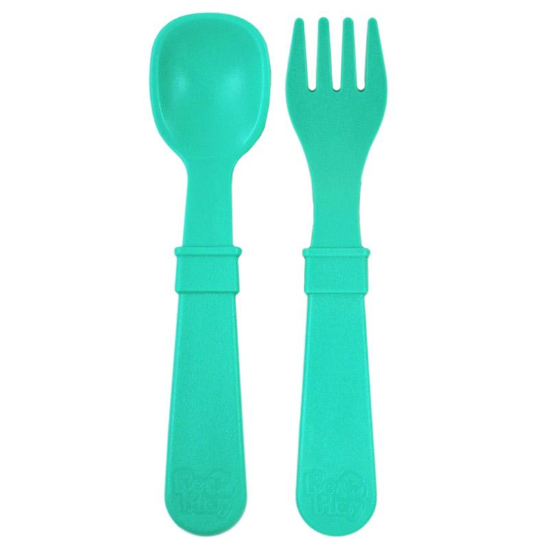 Re-Play Recycled Plastic Utensils - Aqua Untensil | kids at home