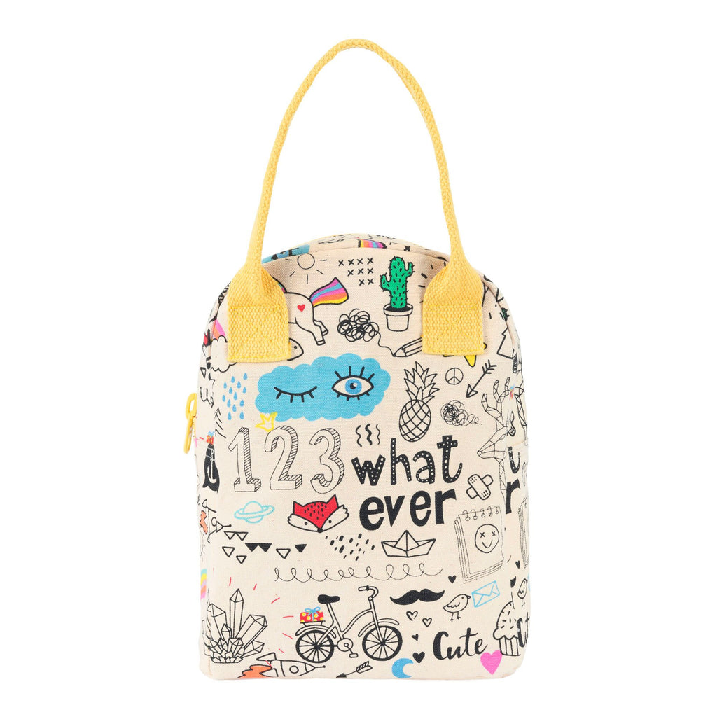 Fluf Zipper Lunch Bag - Whatever | kids at home
