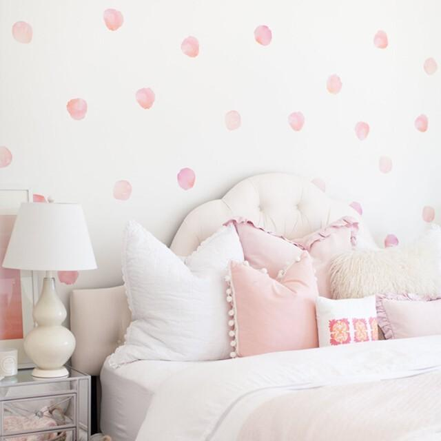 Urban Walls Watercolour Polka Dots - Coral Wall Decal | kids at home