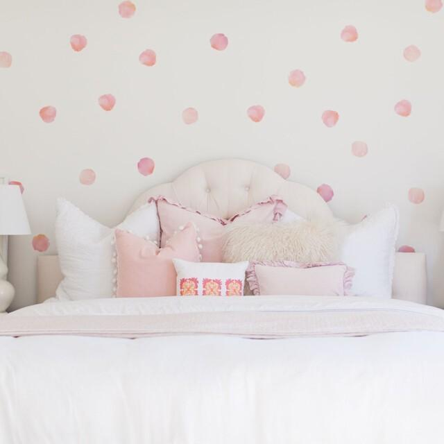 Urban Walls | Watercolour Polka Dots - Coral