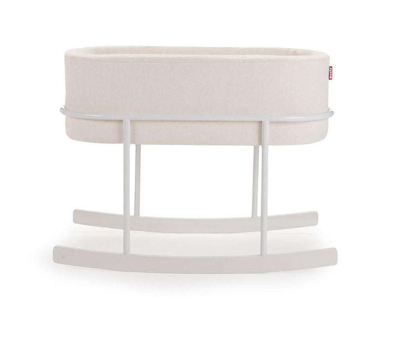 Monte Design Rockwell White/White Bassinet - Premium Fabric | kids at home