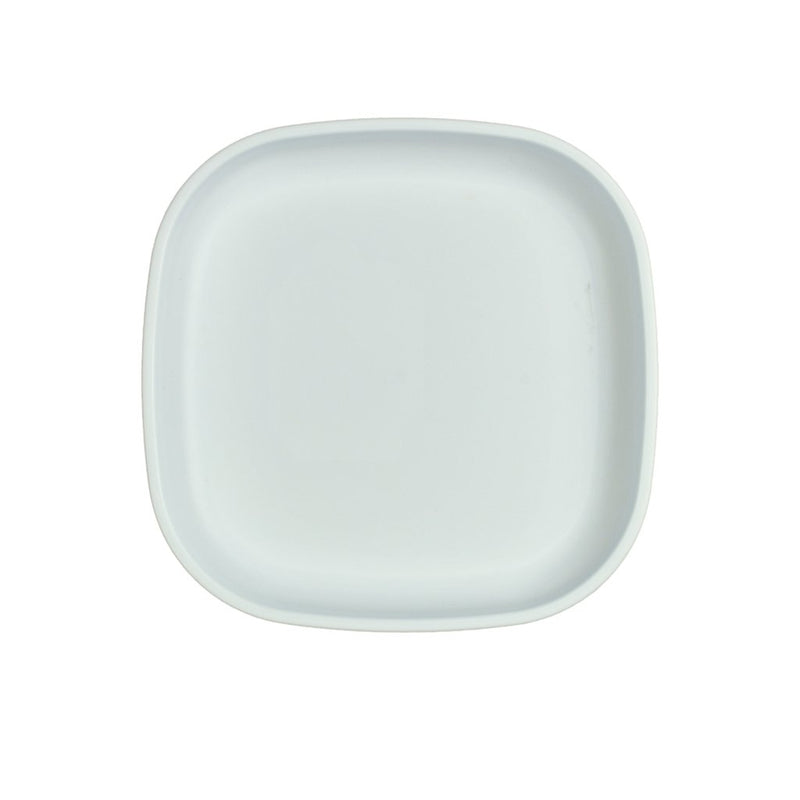 Re-Play Recycled Plastic Large Flat Plate - White | kids at home