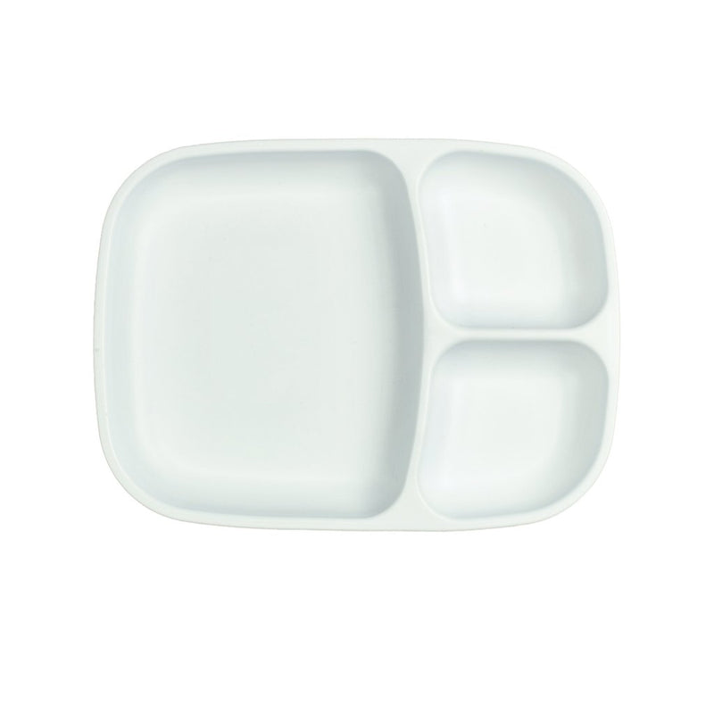 Re-Play Recycled Plastic Divided Tray - White Plate | kids at home