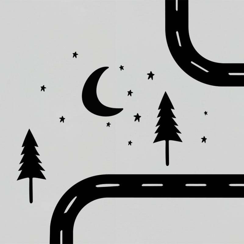Road Wall Decal