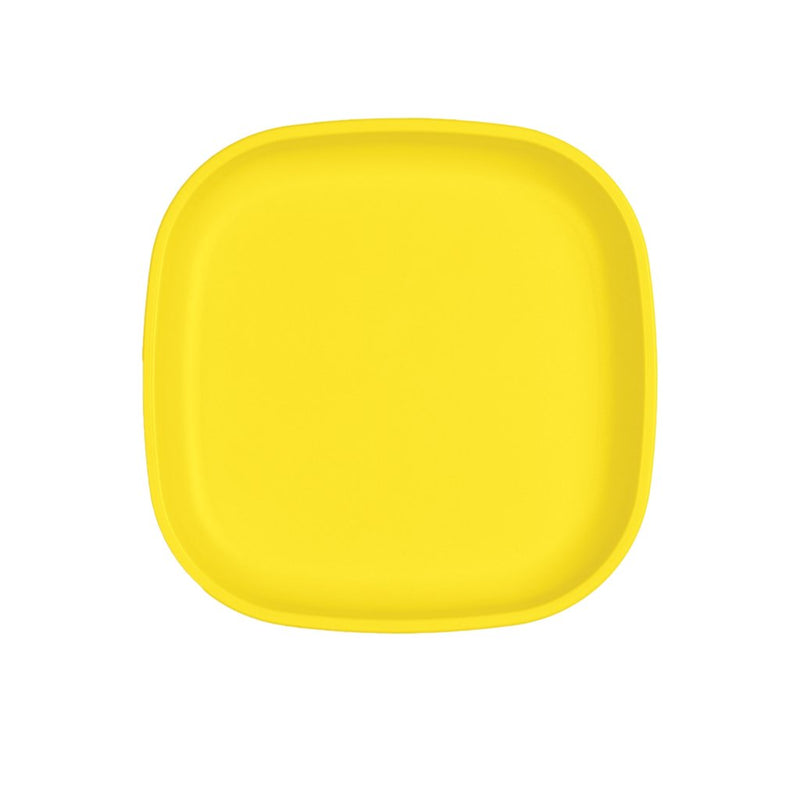 Re-Play Recycled Plastic Large Flat Plate - Yellow | kids at home