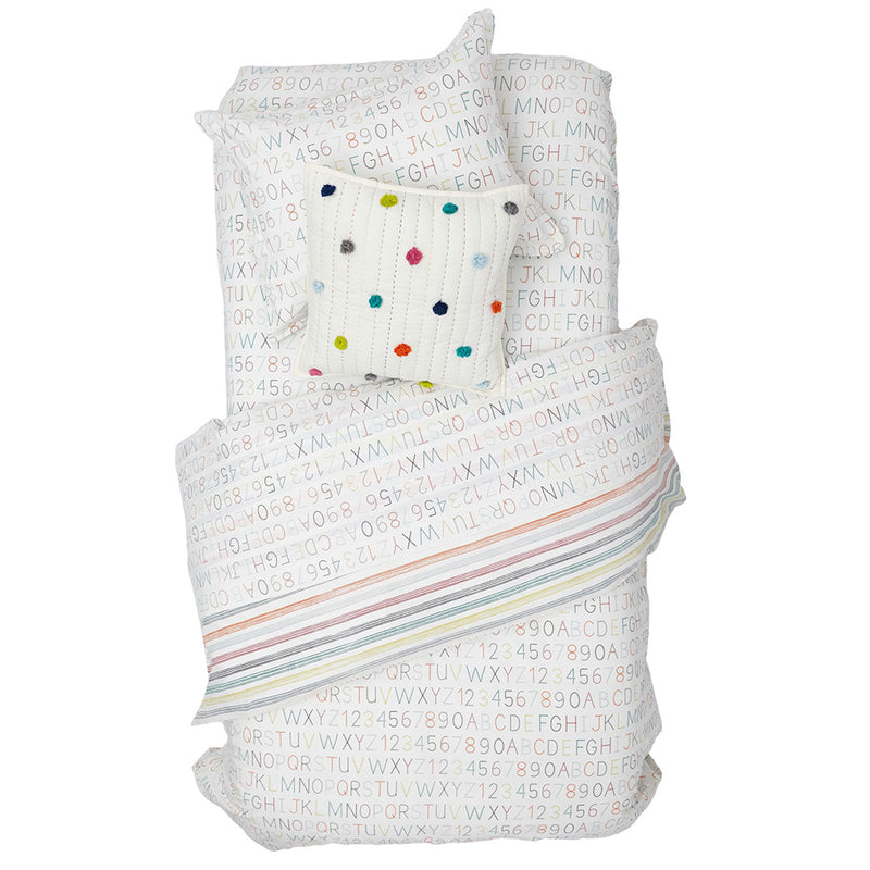 Pehr Alphabet / Rainbow Stripe Duvet Cover - Twin Bedding | kids at home
