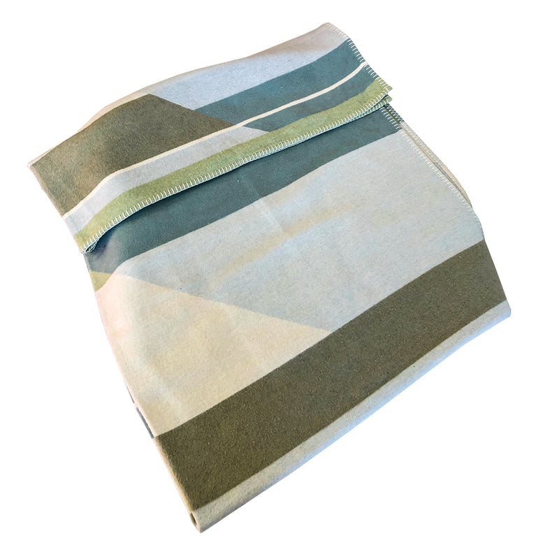 David Fussenegger Sylt Throw Green/Blue Blankets | kids at home