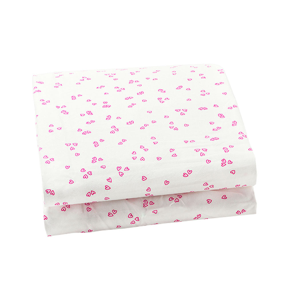 Auggie | Auggie Fitted Sheet - Little Flutter Pink (Twin)