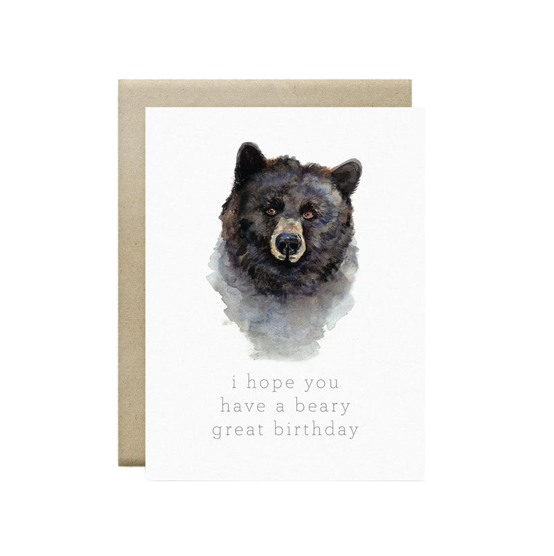 Wild Canary Studio - Greeting Cards Bear | kids at home