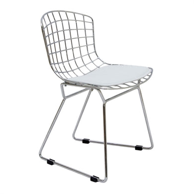 Plata Import Kids Bertoia Chair - Chrome Chairs | kids at home