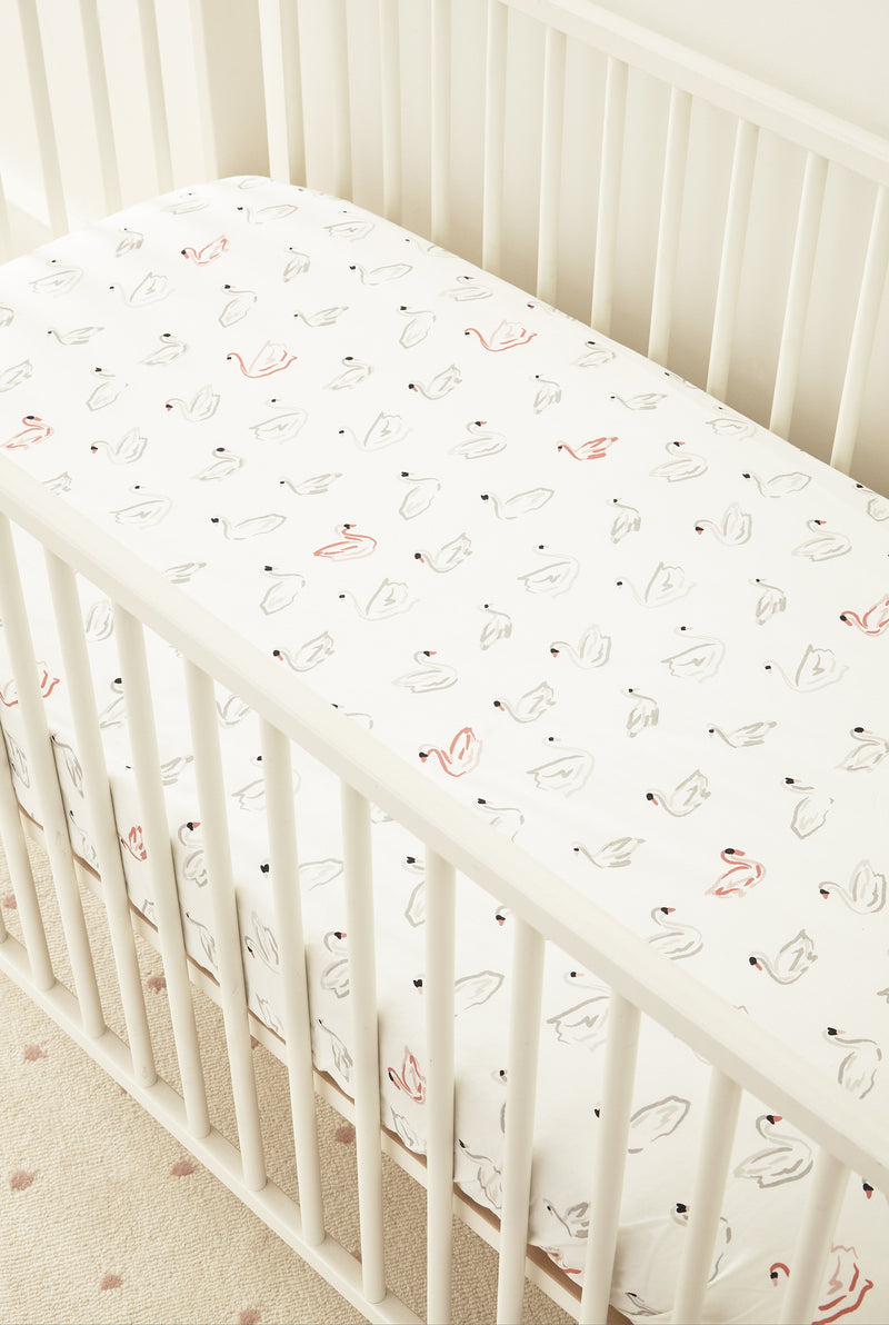 Pehr | Swan Lake Crib Sheet