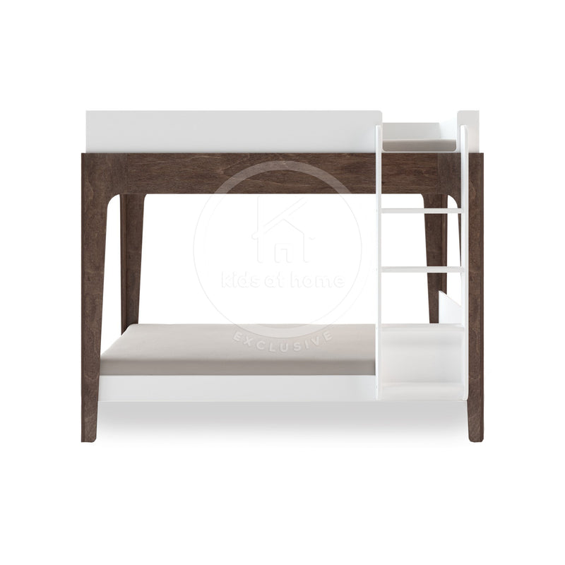 Oeuf Perch Bunk Bed Birch and White With Flat Ladder *kids at home exclusive* | kids at home