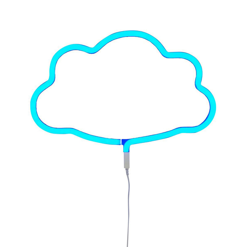 A Little Lovely Company Neon Style Light: Cloud - Blue Lights | kids at home