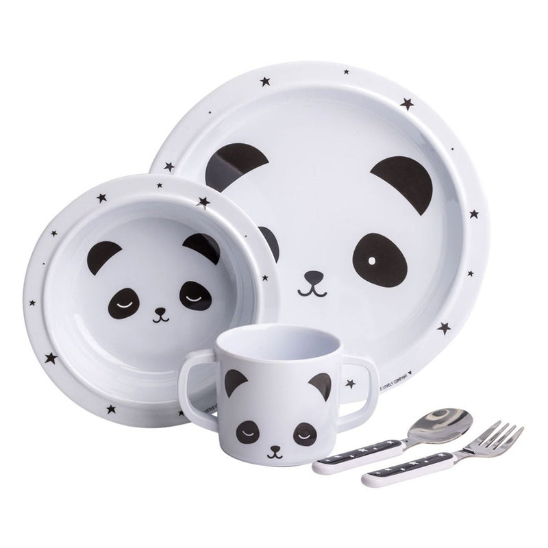 A Little Lovely Company Dinner Set - Panda | kids at home