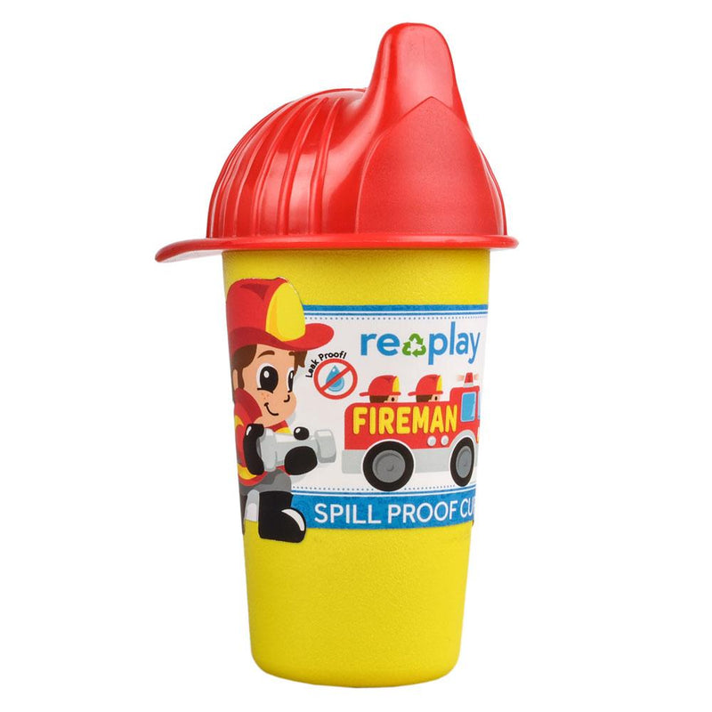 Re-Play Recycled Plastic No Spill Sippy Cup - Fireman | kids at home