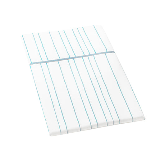 Auggie | Auggie Flat Sheet - Painted Stripe Blue (Twin)