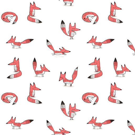 Elise Gravel Wall Paper - Foxes