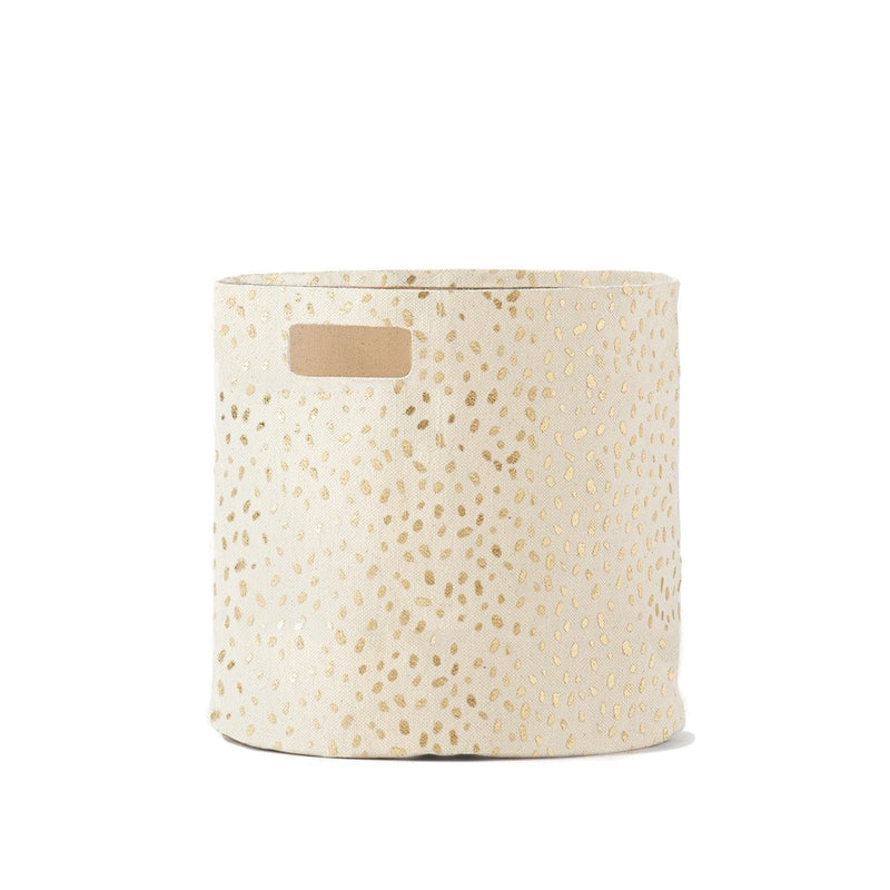 Pehr Gold Foil Speck Bin Storage | kids at home